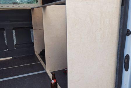 Küchenblock wieder eingebaut